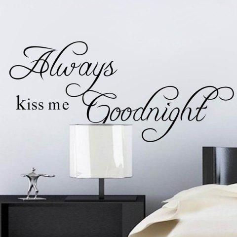 Chic Chic Long Thin Version Black Words Always Kiss Me Removeable Wall Stick