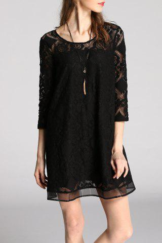 Fancy A Line Mini Lace Dress