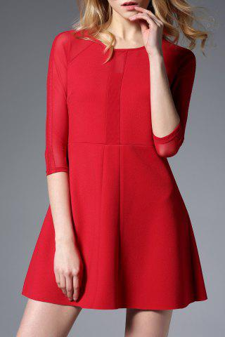 Trendy Lace Splicing Patched Dress