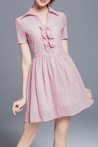 Outfits Pure Color Flared Dress