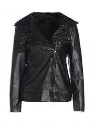 Long Sleeve PU Leather Jacket