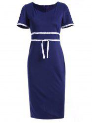 Vintage Sweetheart Neck Short Sleeve Bodycon Dress For Women