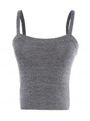 Casual Slimming Solid Color Spaghetti Strap Tank Top For Women -