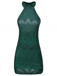 Halter Backless Bodycon Lace Club Dress