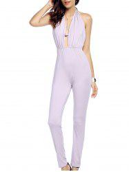 Alluring Halter Backless Criss Cross Women's Jumpsuit -