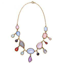 Vintage Irregular Faux Gem Necklace -