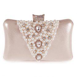 Gorgeous Rhinestone and Faux Pearl Design Evening Bag For Women -