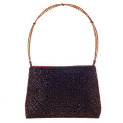 Trendy Solid Color and Beading Design Evening Bag For Women -
