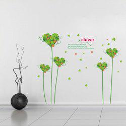 Hot Sale Sweet Love Clover Removeable Wall Stick -