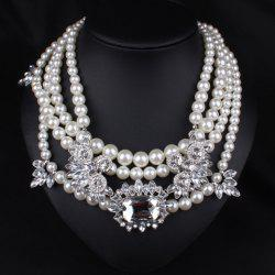 Graceful Layered Faux Pearl Beads Necklace For Women