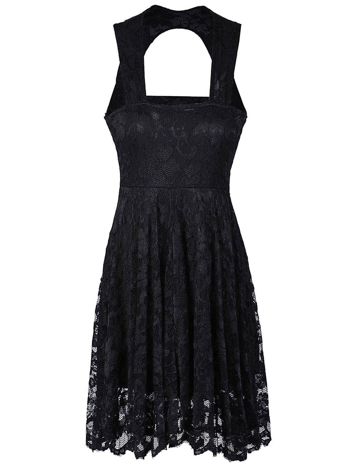 Trendy Sweetheart Lace Backless A Line Short Formal Dress