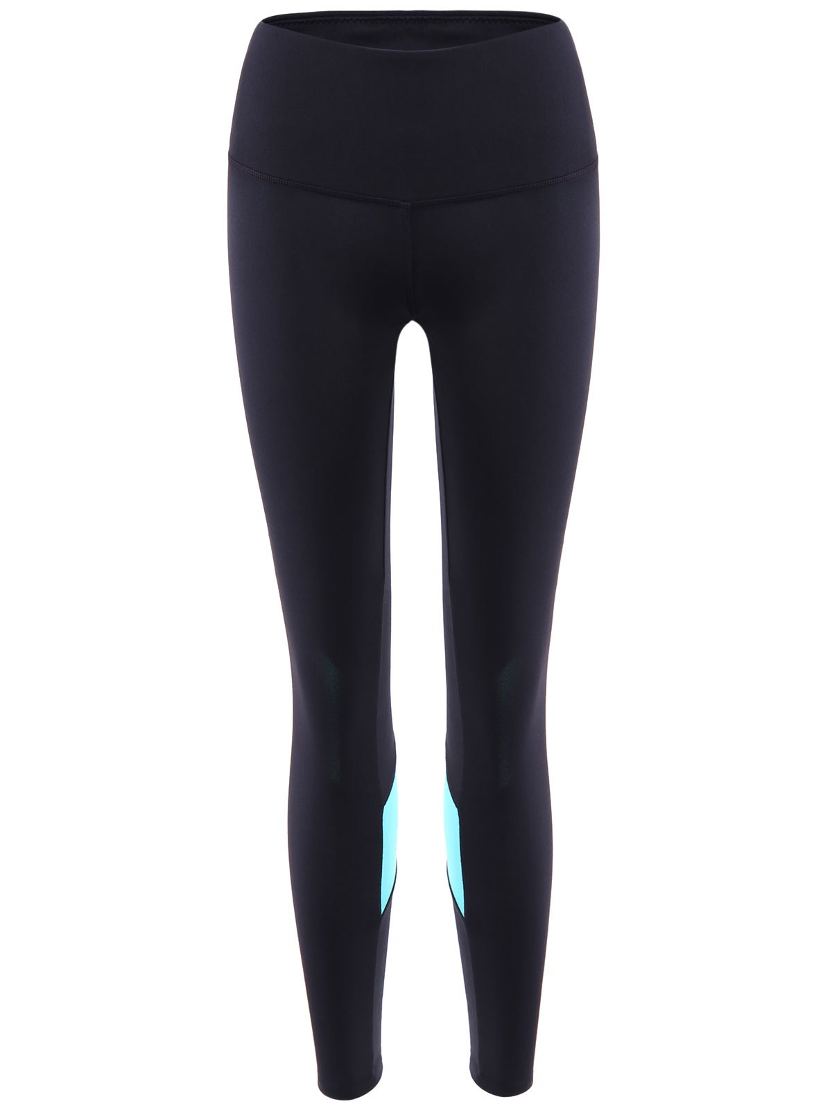 8e9a9f69f5 Hot Sporty Style Elastic Waist Color Block Skinny Jogger Pants For Women