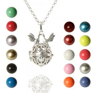 Cute Bead Bird Wings Necklace For Women - Colormix - One-size