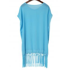 Tassels Beach Poncho Cover Up -