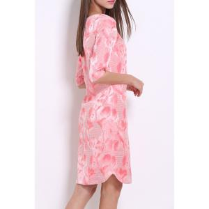 Flower Embroidery Straight Dress -