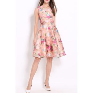 Floral Pattern Defined Dress -
