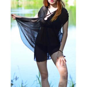 Asymmetric See Thru Swing Tunic Cover Up