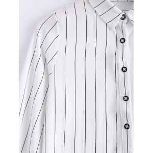 Stylish Long Sleeves Pinstripe Blouse For Women -