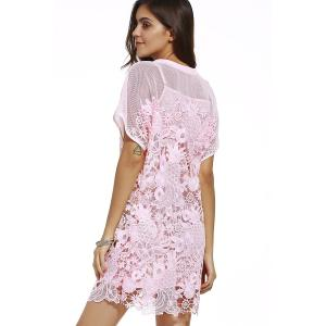 Cami Dress and Hollow Out Embroidery Dress Twinset -