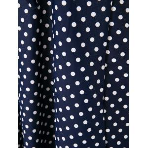 Plunging Neck Polka Dot Print Retro Plus Size Two-Piece Swimsuit -