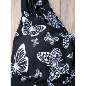 Stylish Butterfly Print Plus Size Two-Piece Swimsuit For Women -