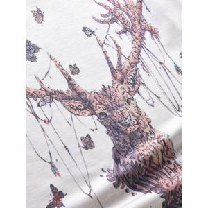 Round Neck Abstract Elk and Butterfly 3D Print Tank Top For Men -