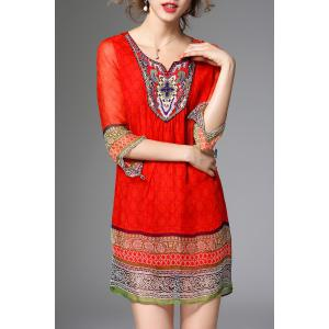 Ethnic Printed Beading Dress -