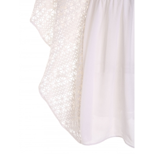Plunge Batwing Flowy Tunic Beach Cover Up -