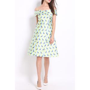Spaghetti Strap Print Dress -
