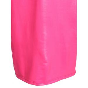 Sexy Plunging Neck Sleeveless Pure Color Slimming Women's Dress -