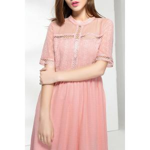 Cut Out Solid Color Pleated Dress -