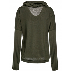 Casual Ruched Hooded Long Sleeve Letter Printed Pullover Hoodie For Women -
