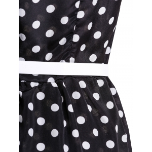 Attractive Polka Dot Printed Sleeveless Ball Gown Dress For Women -