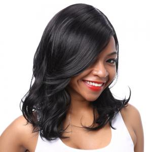 Fashion Synthetic Side Bang Curly Wig For Women -