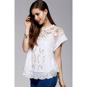 Cami Top and Retro Embroidery Blouse Twinset -