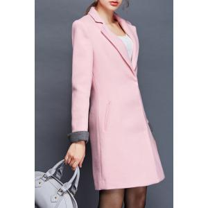 Lapel Worsted Long Coat -