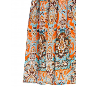 Casual Sleeveless Scoop Neck Ethnic Totem Print Women's Dress -