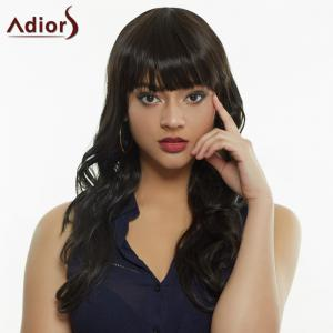 Stylish Full Bang Synthetic Curly Wig For Women