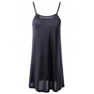 Fashionable Short Sleeves Round Collar Cut-Out Two-Piece Dress For Women - BLACK XL