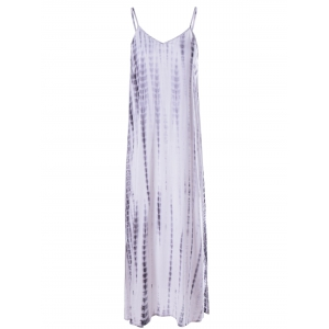 Fashionable Low-Cut Spaghetti Strap Tie-Dye Dress For Woman