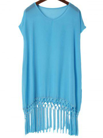Shop Tassels Beach Poncho Cover Up