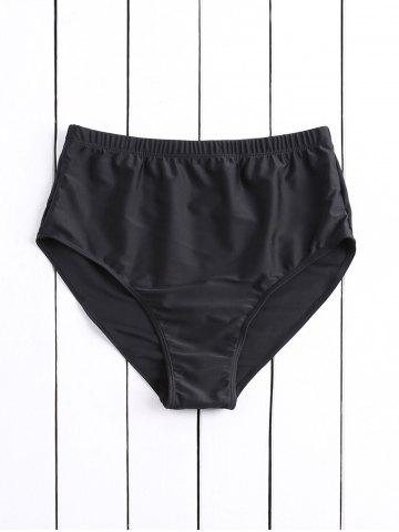 Affordable Simple High-Waisted Solid Color Women's Swimming Shorts