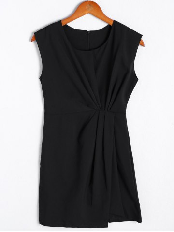 Affordable Simple Sleeveless Round Neck Dress For Women