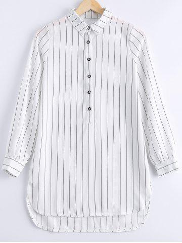 Sale Stylish Long Sleeves Pinstripe Blouse For Women