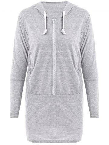 Store Casual Scoop Neck Long Sleeve Wing Print Hoodie For Women GRAY ONE SIZE(FIT SIZE XS TO M)