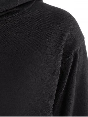 Online Casual Scoop Neck Long Sleeve Wing Print Hoodie For Women - ONE SIZE(FIT SIZE XS TO M) BLACK Mobile