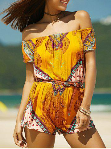 Hot Convertible Short Sleeve Printed Women's Romper
