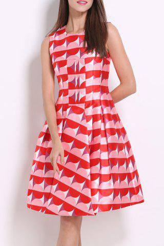 New Hit Color Printed Summer Dress