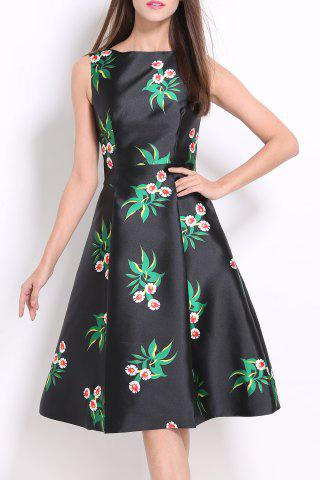 Chic Floral Flare Dress