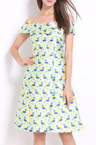 Sale Spaghetti Strap Print Dress